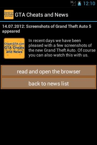 GTA Cheats and News - screenshot