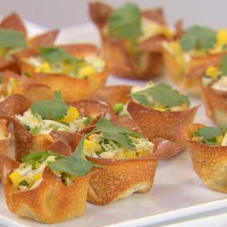 Crab Salad In Crisp Wonton Cups.