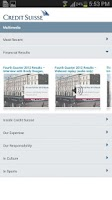 Screenshot of Investor Relations and Media