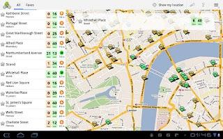 Screenshot of Cycle Hire Widget