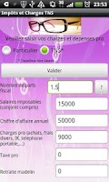 Screenshot of Impot et Charges Sociales 2012