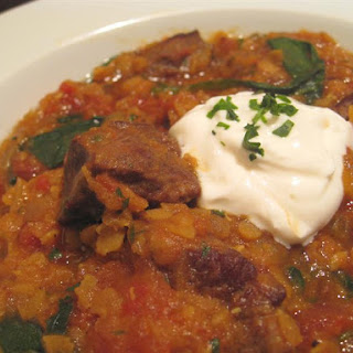 Curried Beef and Red Lentil Stew.