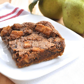 Chewy Brown Sugar Pear Bars