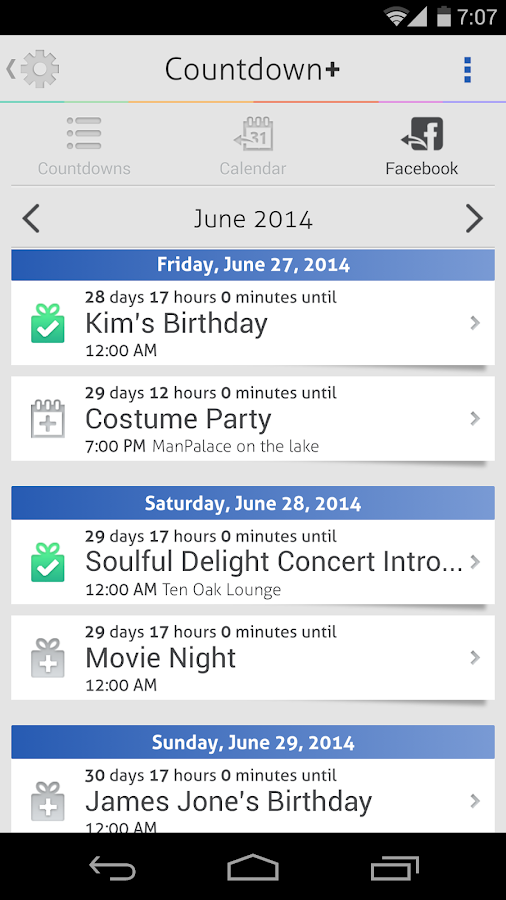 Countdown+ Widget Calendar- screenshot