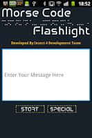 Screenshot of Morse Code Flashlight ACE