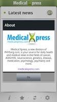 Screenshot of Medical Xpress (free)