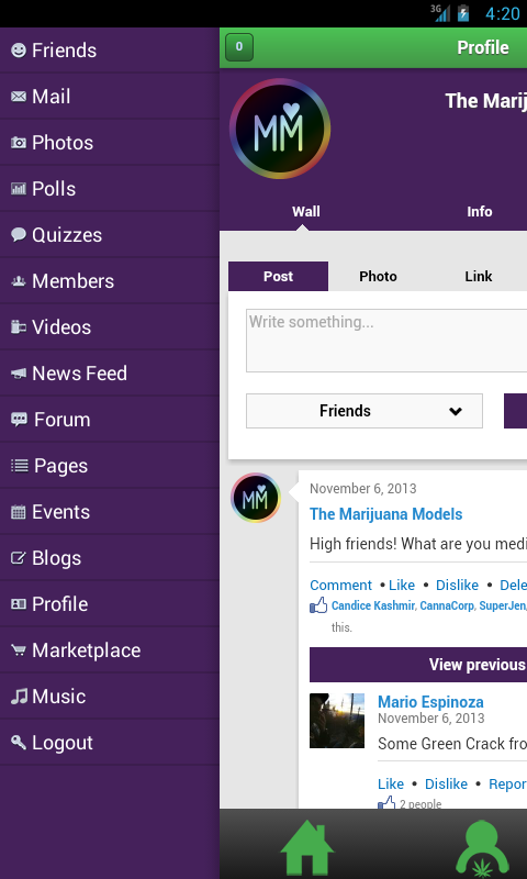 KUSH Common Marijuana Network- screenshot