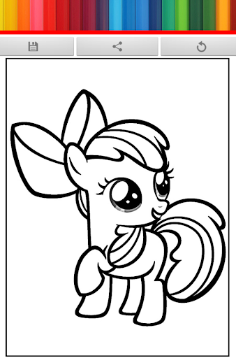 Little Horse Coloring Pony