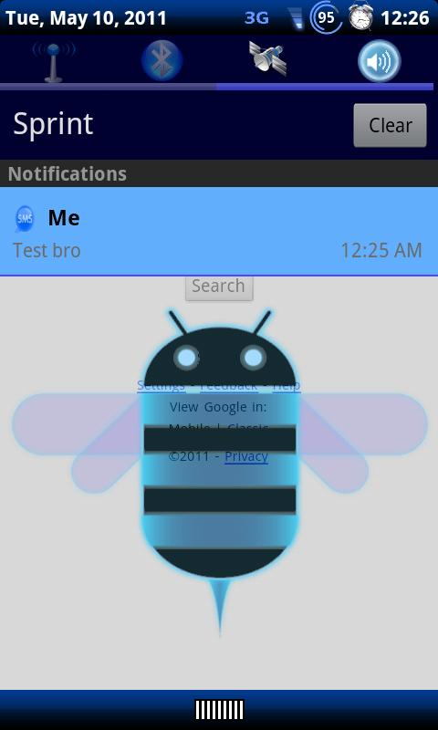 Blue Honeycomb Theme Chooser - screenshot