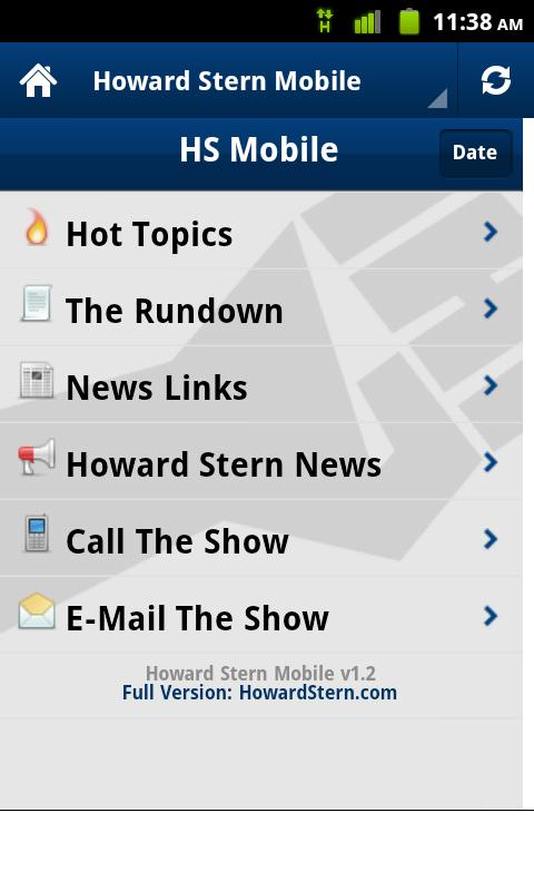 Howard Stern Mobile (Old) - screenshot