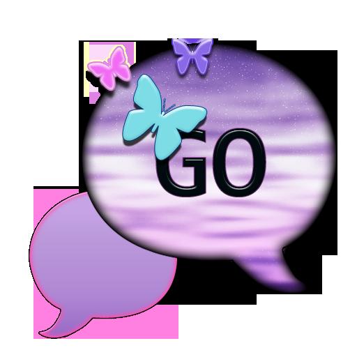 個人化必備App|GO SMS THEME/ButterflysRFree1 LOGO-綠色工廠好玩App
