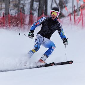 giant slalom by Katsuhiro Kaneko - Sports & Fitness Snow Sports ( ski, canon, giant slalom, new york, alpine ski, white face, ny, eos, winter, winter sport, racer, super g, lake placid,  )