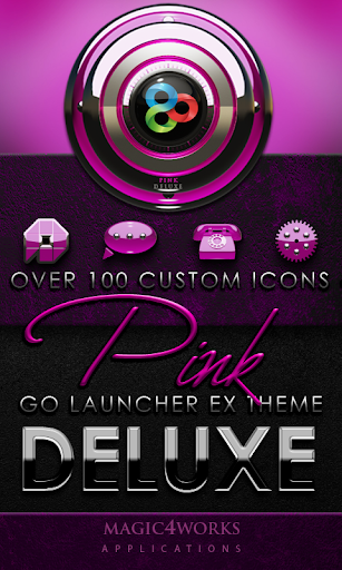 GO Launcher Theme Pink Deluxe