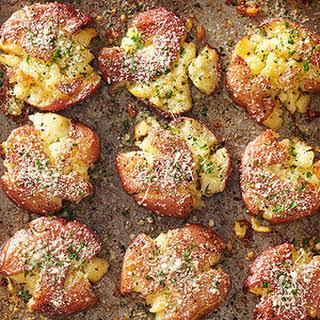 Fried Smashed Potatoes.