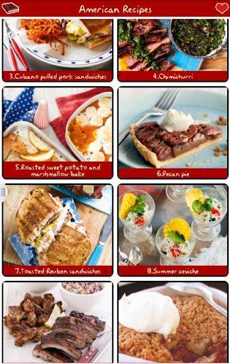미국 요리법 무료