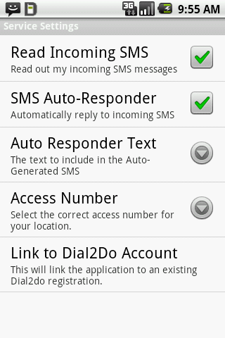Dial2Do Hands-free Assistant - screenshot