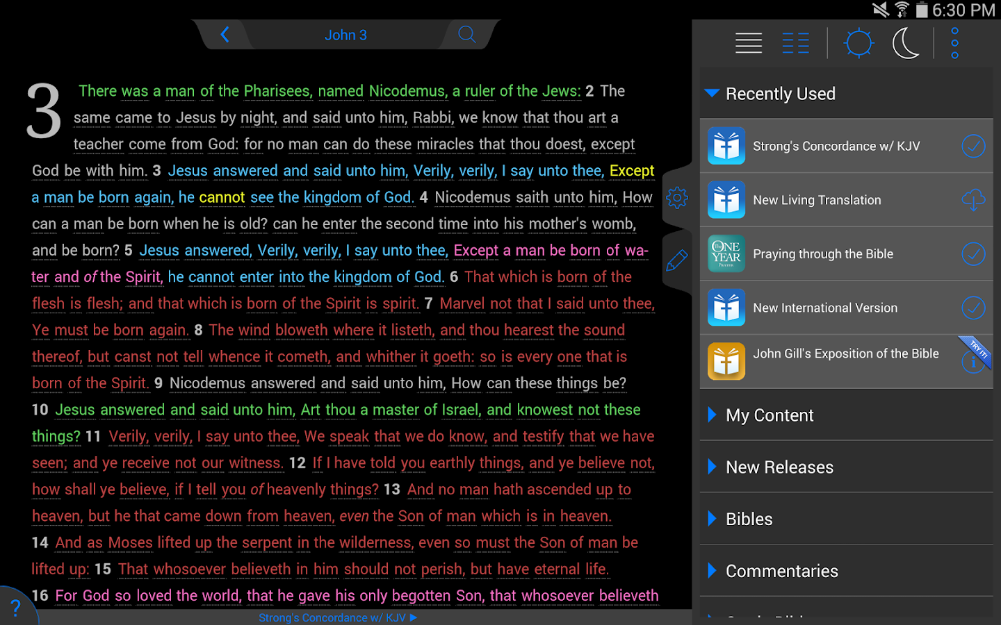 Strong's Concordance with KJV- screenshot