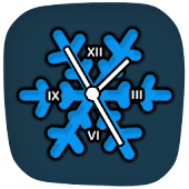 Clocky Snowflake winter clock