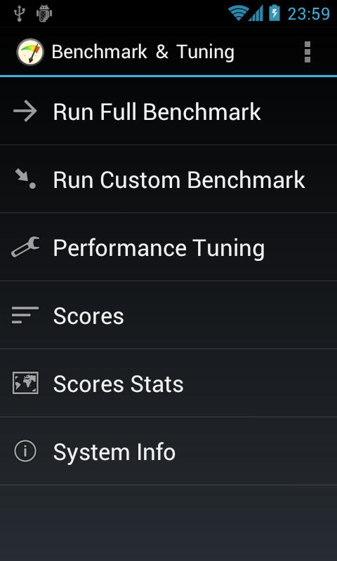 Benchmark & Tuning Free - screenshot