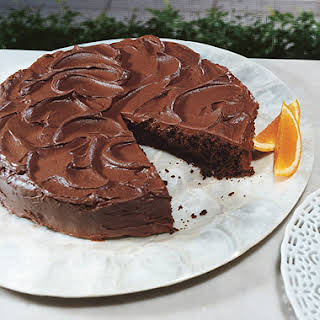Chocolate Cake with Chocolate-Orange Frosting.