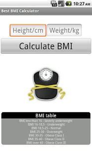 Best BMI Calculator - screenshot thumbnail
