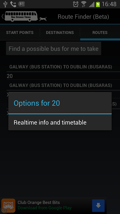Bus Eireann Times Free - screenshot