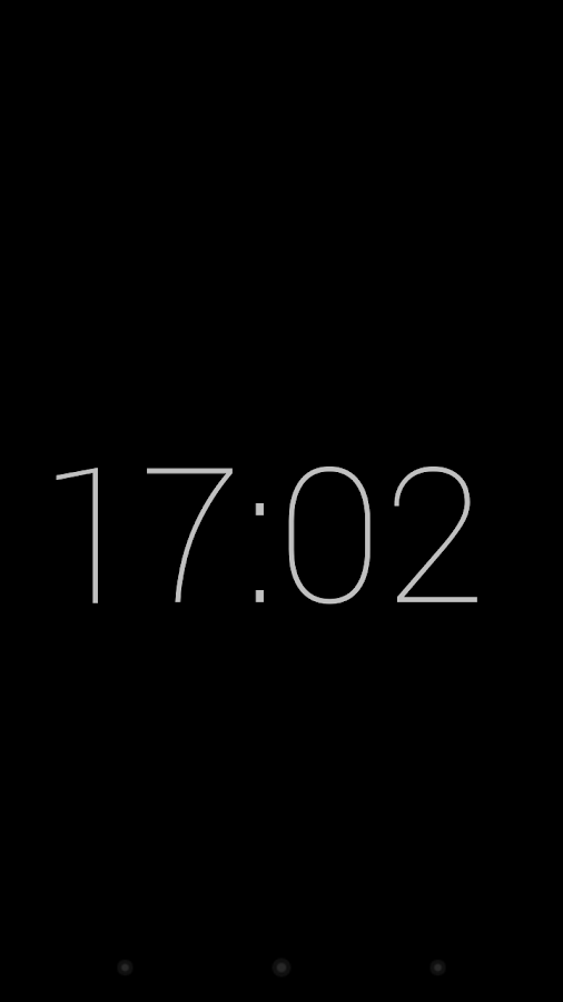 Slim Lock Clock - screenshot