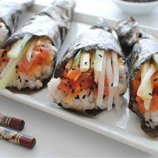 Spicy Tuna Hand Rolls.