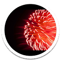 Red Fireworks LWP icon