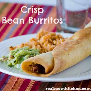 Crisp Bean Burritos {like Taco Time}.