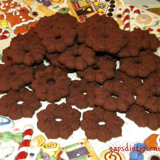 Chocolate Coconut Flour Cookies Made with a Cookie Press.