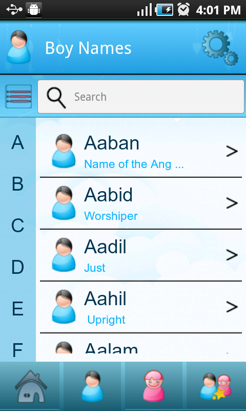 Baby Islamic Names Meanings Screenshot