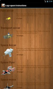 Lego space - examples