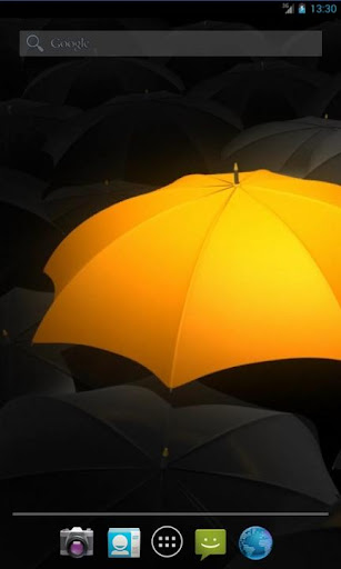Her Orange Umbrella LWP