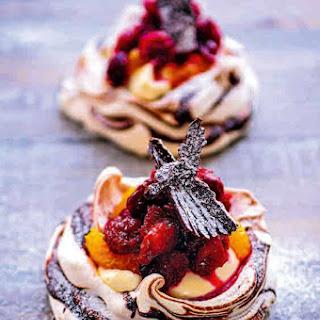 Mini Cranberry, Orange And Chocolate Pavlovas Recipes