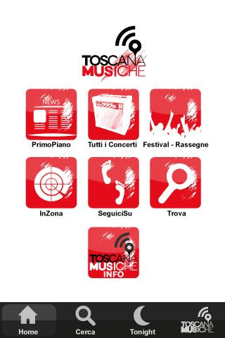 Toscana Musiche App- screenshot
