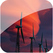 Red Windmill Live Wallpaper