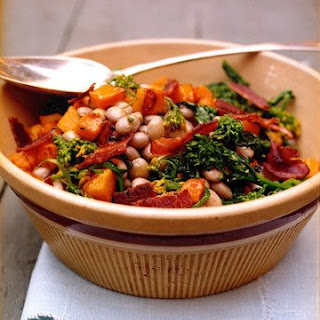 Cranberry Bean Salad with Butternut Squash and Broccoli Rabe.