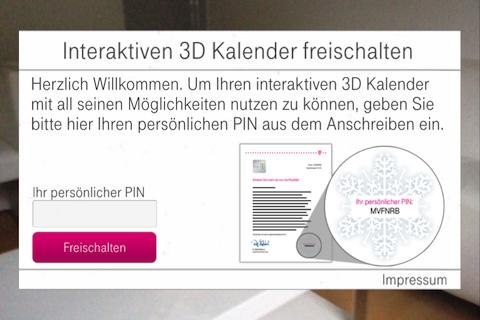 Interaktiver 3D Kalender- screenshot