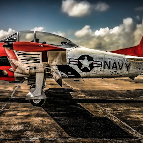 T28 by Chris Thomas - Transportation Airplanes ( airport, warbird, vintage, airplane, aircraft, t-28,  )
