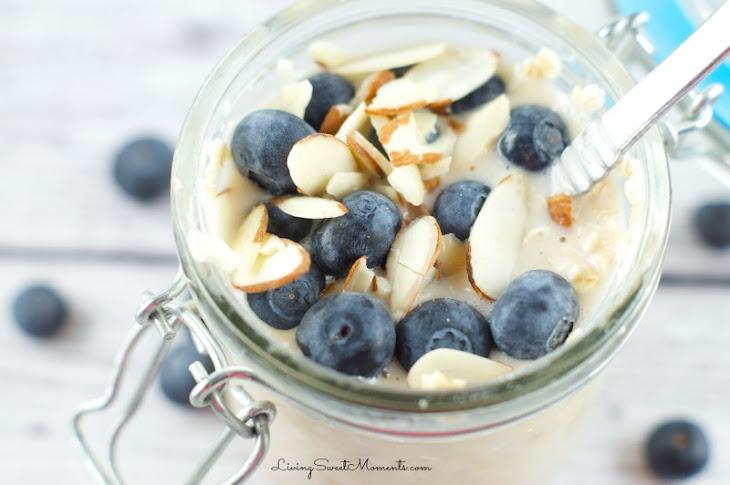 Overnight Oatmeal In A Jar Recipe (A No Cook Breakfast)