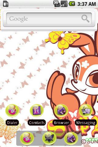 Funny Skip Bunny [SQTheme] ADW- screenshot