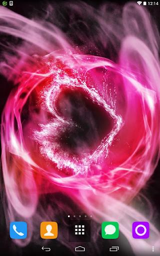 Fiery Heart Live Wallpaper