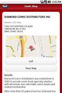 Comic Shop Locator - screenshot thumbnail