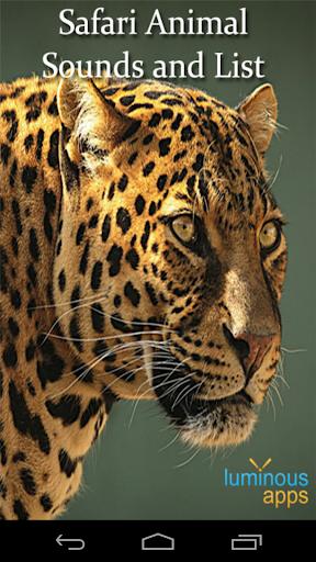 Safari Animal Sounds and List
