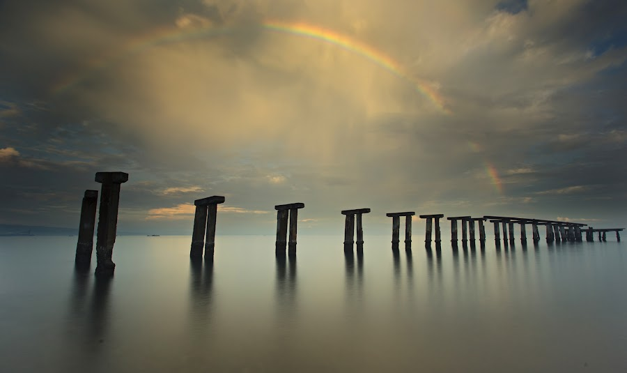 once upon a rainbow by Carlo Romero - Landscapes Weather ( cagayan de oro, chasinglight, landscapes, rainbow )