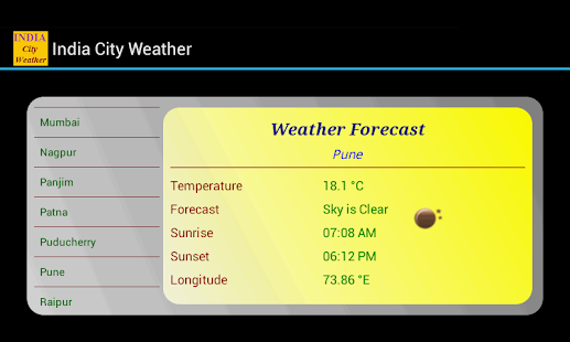 India City Weather screenshot