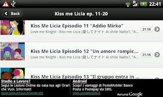 Screenshot of Kiss me Licia