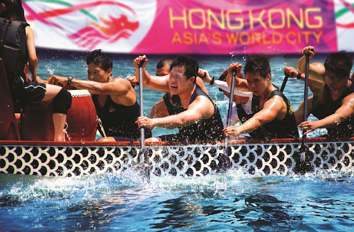 Hong-Kong-dragonboat2 - Dragon boat races in Hong Kong. The Dragon Boat Carnival has become one of the world's great parties.