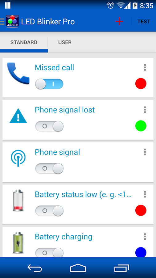 LED Blinker Notifications - screenshot